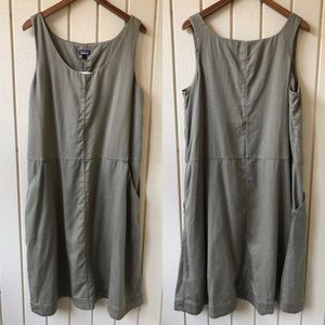 Patagonia Recircle Dress Olive Green NWT
